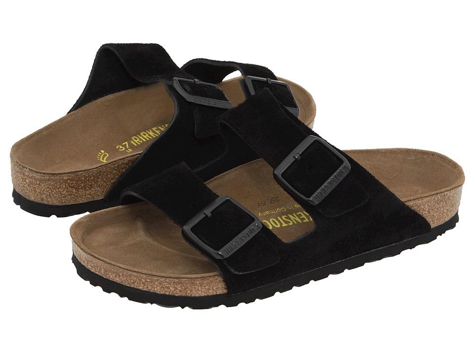 93fe1276e894 Birkenstock Arizona Soft Footbed Black Suede Men s Sandals ...